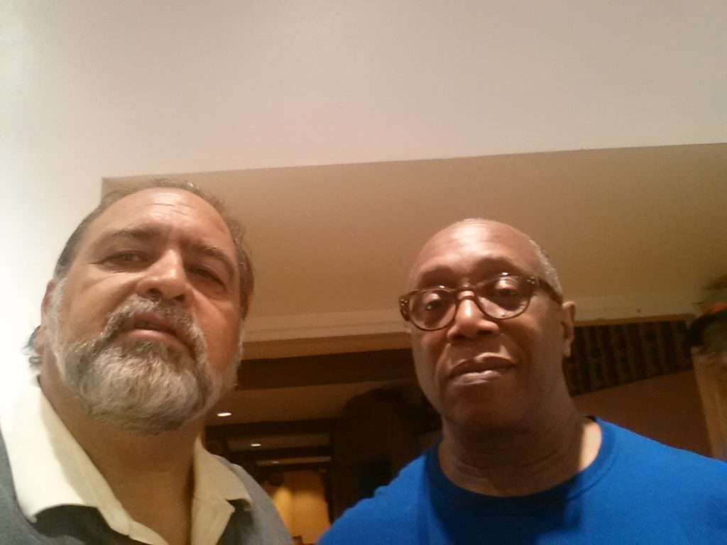 with drummer Billy Cobham