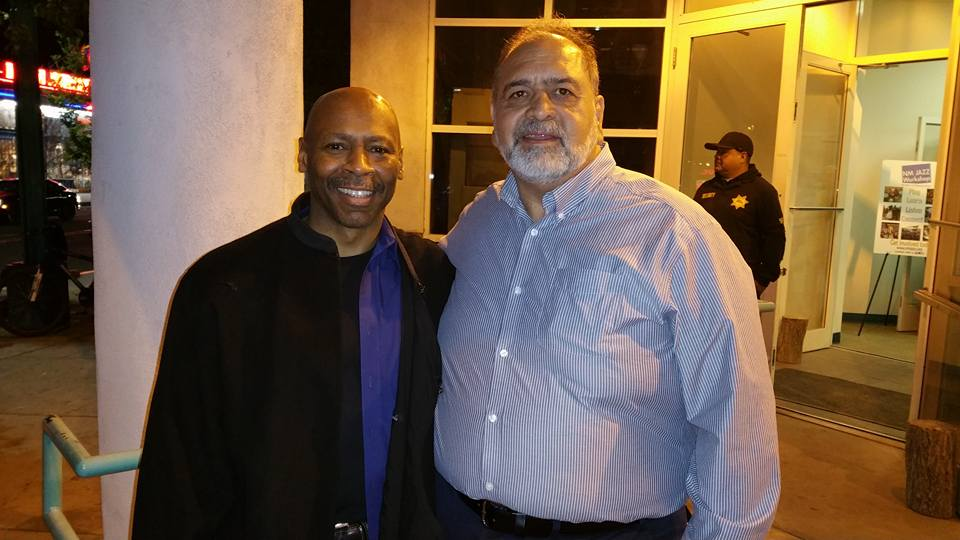 with guitarist Kevin Eubanks